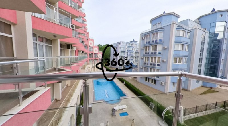 FurnIshed 1 bedroom apartment wIth POOL VIEW In Ro,  Sunny Beach, Bulgaristan